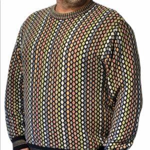 Pronto Uomo Firenze Sweater vtg 1990's Colorful